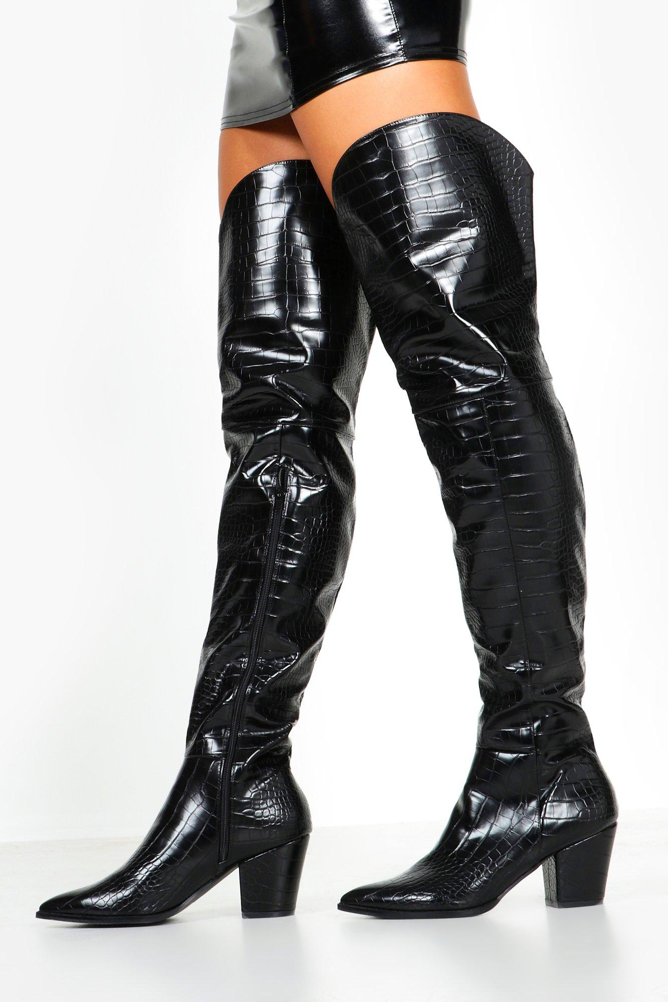 Thigh High Western Boots