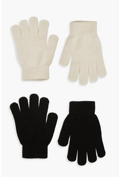 Lot de 2 gants Magic, Crème blanc