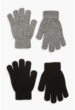 Lot de 2 gants Magic, Gris