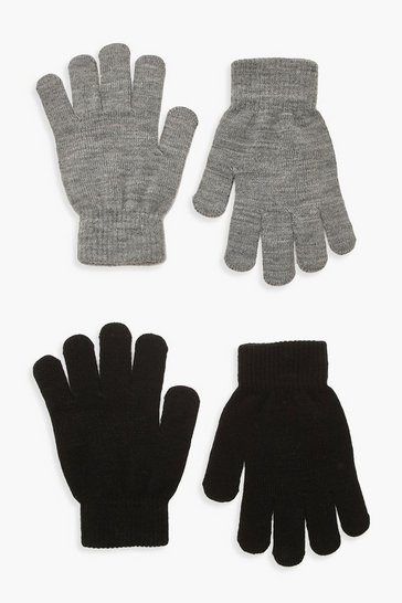 Grey 2 Pack Magic Gloves