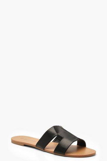 Black Wide Fit Sliders