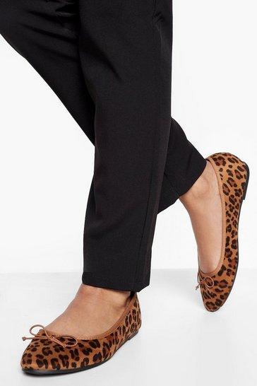 Leopard multi Round Toe Ballet Flats