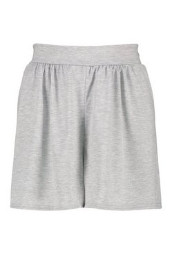 Grey marl Basic Jersey Flippy Shorts