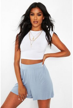 Pale blue Basic Jersey Flippy Shorts