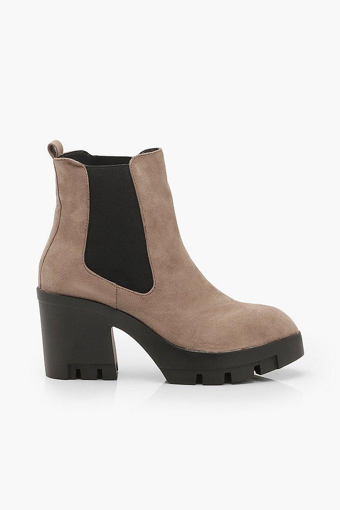 Chunky Block Heel Chelsea Boots | boohoo SE