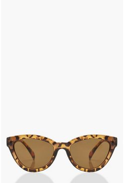 Brown Tortoiseshell Chunky Oversized Sunglasses