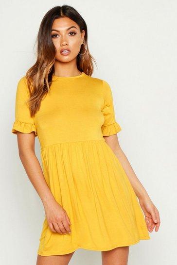 Mustard yellow Smock Dress