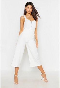 Ivory white The Tailored Wide Leg Culotte
