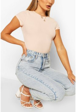 Blush rosa Ribbad t-shirt