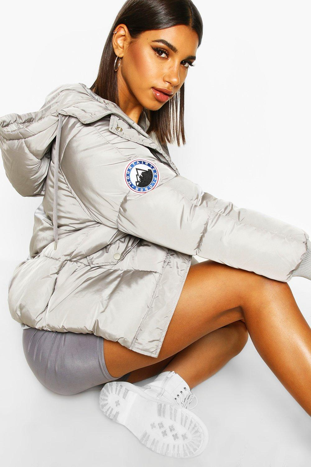 Puffer Jackets Hooded Quilted Puffer