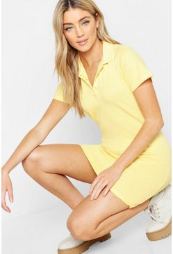 Yellow Short Sleeve Tennis Dress