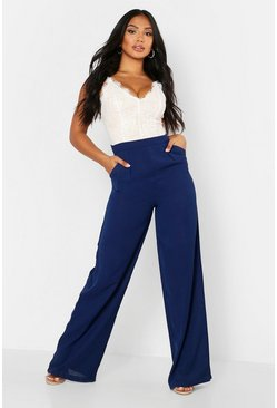 Navy Lace Body Insert Jumpsuit