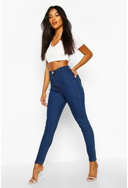 Mid blue blue High Rise Disco Jean