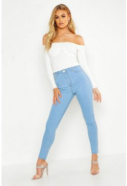 Light blue blue High Rise Skinny Jeans