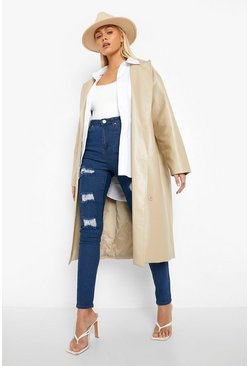 Mid blue blue High Rise Super distressed Skinny Jean