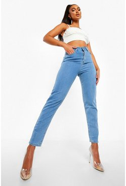Light blue blue High Rise Mom Jeans