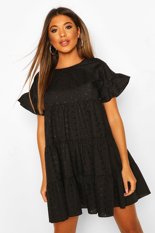 Mini Dresses Broderie Anglaise Smock Dress