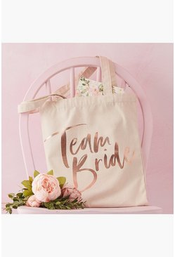 Cream white Ginger Ray Team Bride Tote Bag