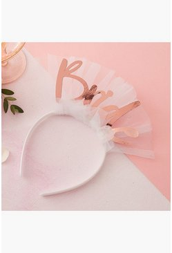 White Ginger Ray Bride Headband
