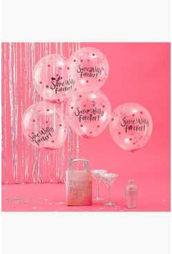 Ballons de confettis Same Willy Forever, Transparent clair