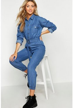 Mid blue Denim Boilersuit