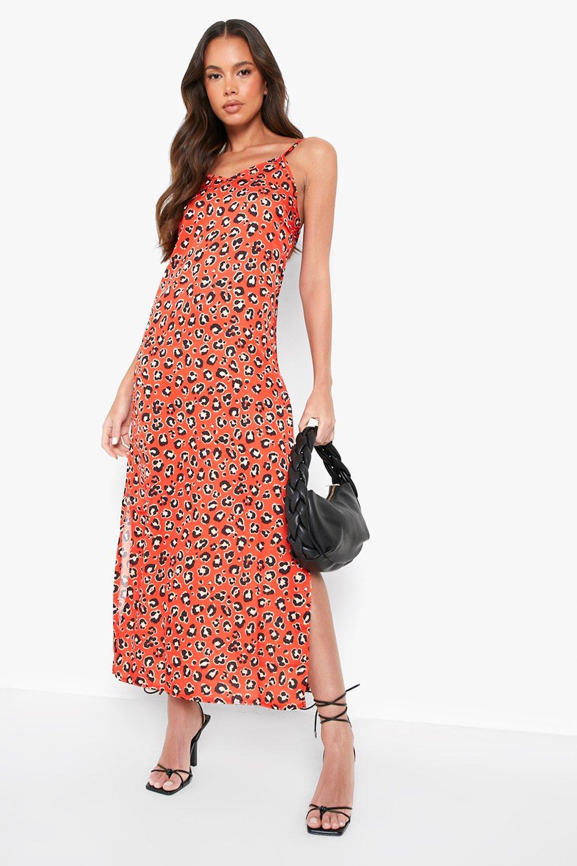 SALE Woven Leopard Maxi Slip Dress