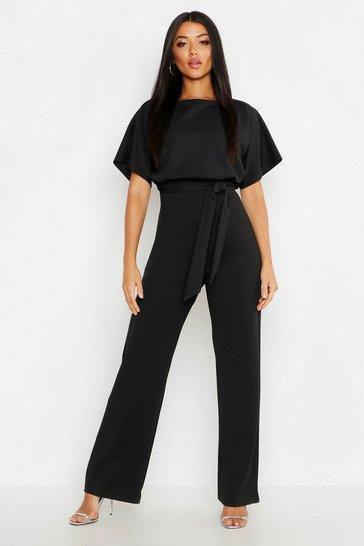 Black Double Layer Jumpsuit