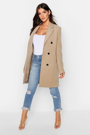 Camel beige Double Breasted Coat