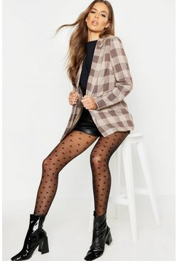 Black Mini Heart Tights