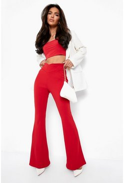 Red Double Layer Slinky Bralet