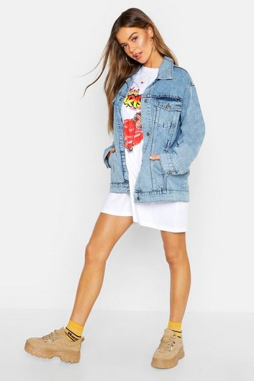 Light blue blue Oversized Denim Jacket