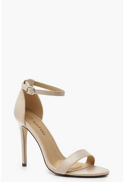 Nude Wide Fit Stiletto Barely There Heels