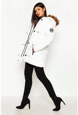 White Luxe Mountaineering Parka