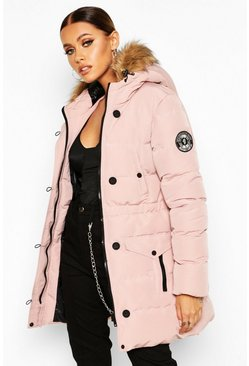 Dusky pink pink Luxe Mountaineering Parka