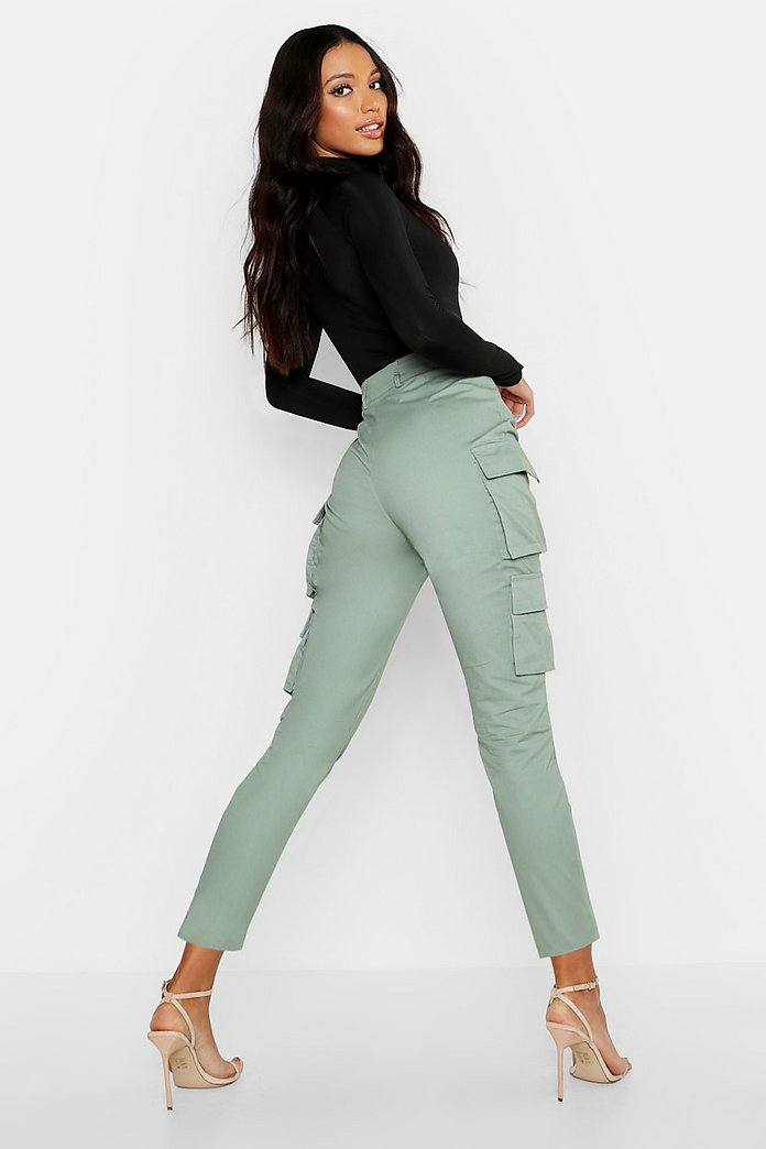 pantalon cargo femme boohoo