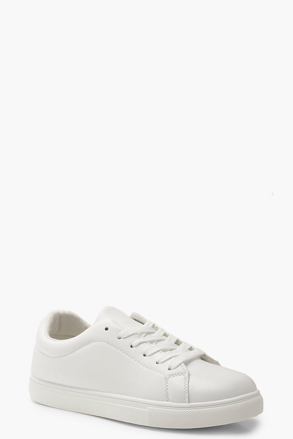 SHOES Lace Up Flat Trainers