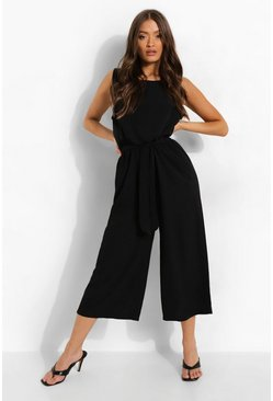 Black Culotte Jumpsuit