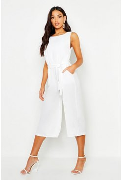 Ivory white Culotte Jumpsuit
