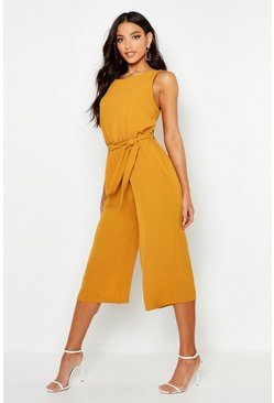 Mustard yellow Culotte Jumpsuit