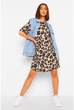 Multi Leopard Print Smock Dress