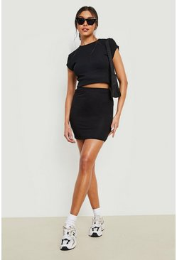 Black Mini Skirt Basic