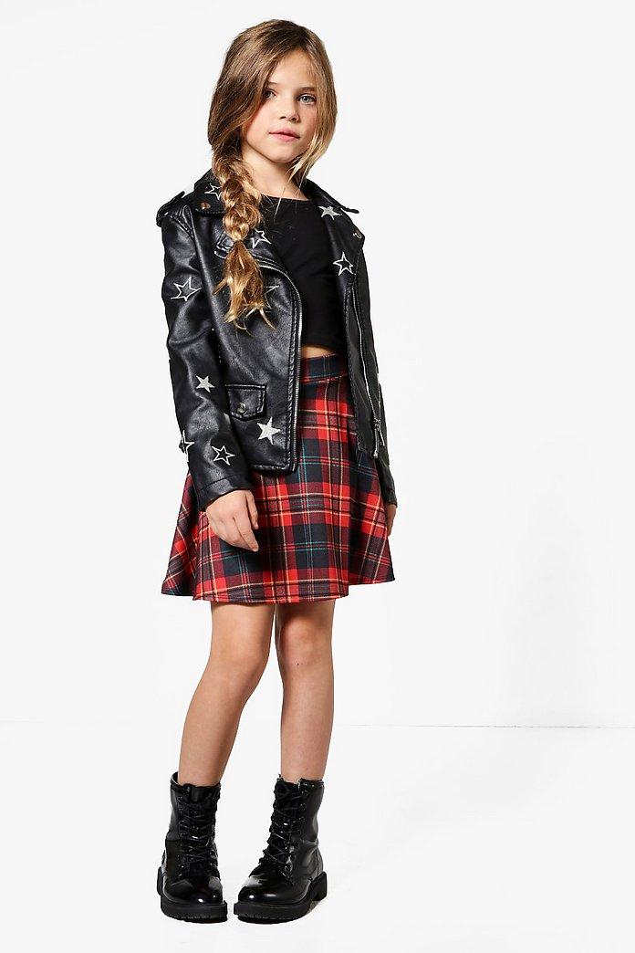 Girls Tartan Skater Skirt   boohoo