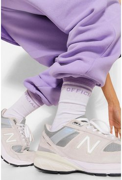 Lilac purple Slogan Sock