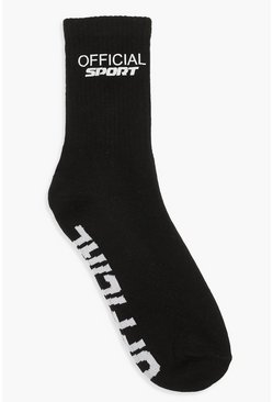 Black Official Reflective Sports Sock