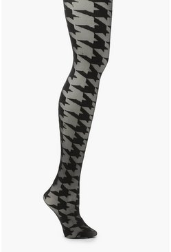 Black Dogtooth Tights
