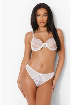 White Lace Underwire Lingerie Set