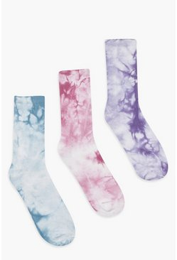 Multi Tie Dye 3 Pack Socks