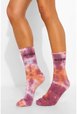 Purple Tie Dye Socks