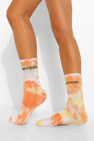 Yellow Official Branded Tie Dye Socks
