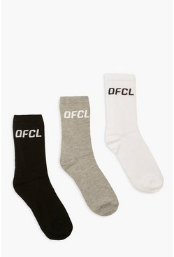 Multi Mixed 3 Pack Ofcl Sports Socks